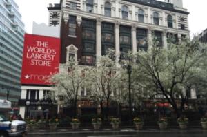 Spring Outside Macy's